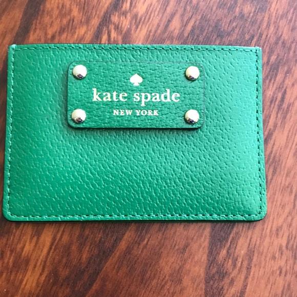 kate spade card holder green  Kate Spade green card holder